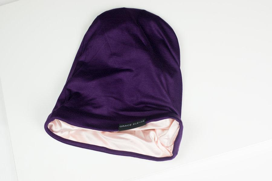 The Slap (Satin-lined cap) - Purple