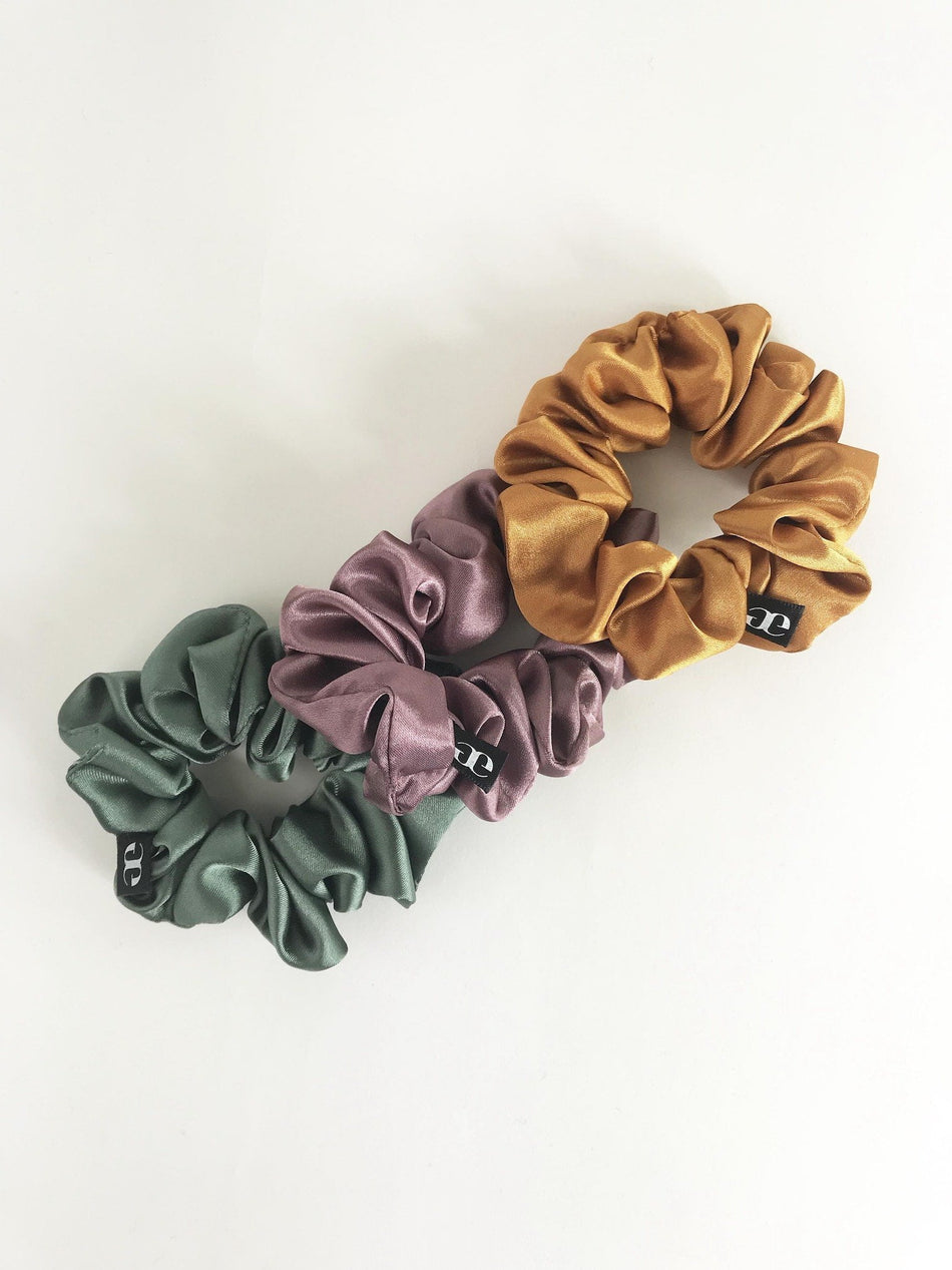Satin Scrunchie Color Pack - Thin
