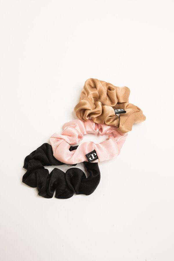 Medium Silk Scrunchie - 3 Pack