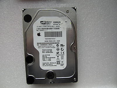 "655-1360F Apple Logo 500GB 7200RPM 3Gbps SATA HDD 3.5"" WD5000AAKS - 40YGA1"