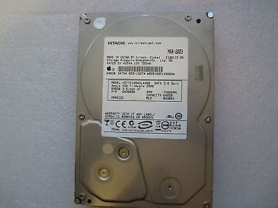 "655-1527A Apple Logo 640GB 3.5"" SATA Hard Drive Hitachi HDT721064SLA360"