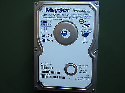 "Maxtor DiamondMax 16 250GB 3.5"" ATA /133 HDD 4A250J0"