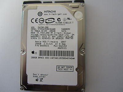 "NEW SEALED Hitachi 200GB 2.5"" SATA Hard Drive HTS542520K9SA00 0A54915 5k250-200"