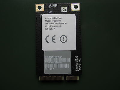 "Apple 825-7362-A iMac  21.5"" 27"" WIFI Airport Extreme Card AR5BXB92 607-3759-A"