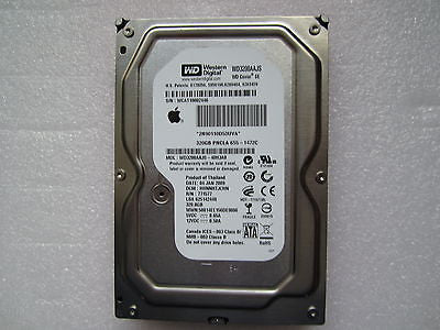 "655-1472C Apple Logo 320GB PNCLA SATA HDD 3.5"" WD3200AAJS - 40H3A0"