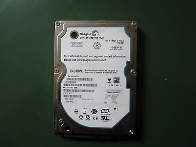 "ST9120822AS 9S1133-308 120GB Seagate SATA 2.5"" Hard Drive"