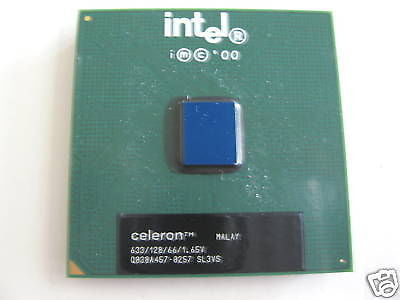 NEW Intel Celeron  CPU 633 MHz 128 Cache  SL3VS