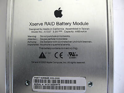 Apple Xserver RAID Battery Module 620-2506 A1037