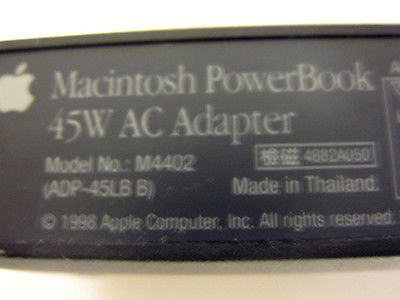 NEW Original Machintosh PowerBook 45W AC Adapter M4402 ADP-45LB
