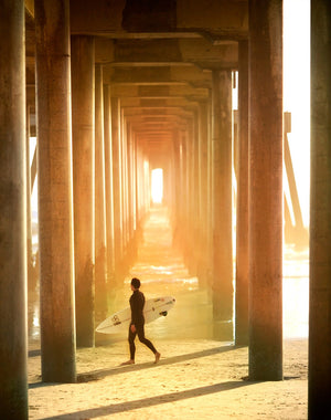 Huntington Pier Surf Photograph