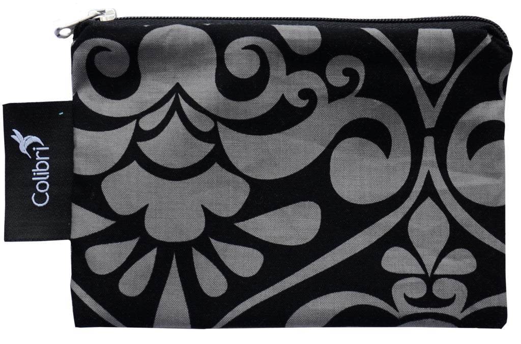 Colibri - Small Snack Bag Charcoal Damask (grey swirl)