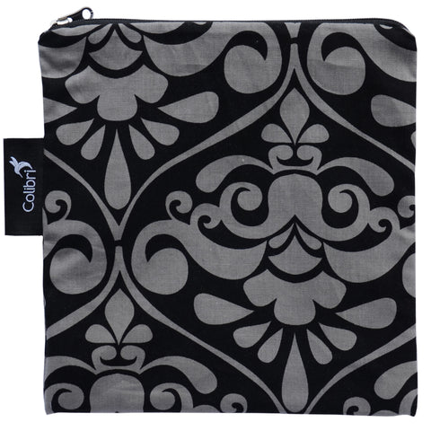 Colibri - Large Snack Bag Charcoal Damask (grey swirl)