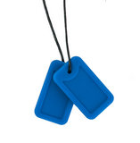 Dog Tags - Riptide (Deep Blue Matte) Necklace