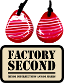 Red white stripe Candy Ripple disc pendant
