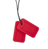 Dog Tags - Carmine (Bright Red Matte)