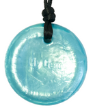 Light blue Splash disc pendant