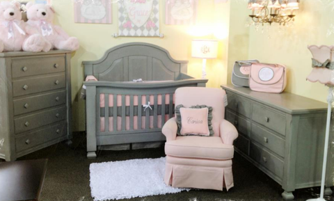 Gray crib 4-in-1 convertible
