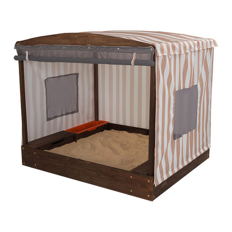 KidKraft Cabana Sandbox - Oatmeal & White Stripes - 00504 -  Kid Kraft Pretend Play - Nurzery.com