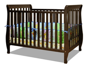 AFG Naomi 4-in-1 Baby Crib with Guardrail - 009 - Espresso AFG Furniture International All Cribs - Nurzery.com - 1