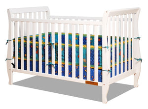 AFG Naomi 4-in-1 Baby Crib with Guardrail - 009 - White AFG Furniture International All Cribs - Nurzery.com - 3