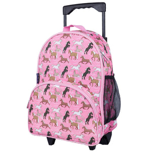 Wildkin - Horses in Pink Rolling Luggage - 85066