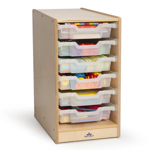 Whitney Brothers Clear Tray Single Storage Cabinet WB7001 -  Whitney Bros Cubby Storage - Nurzery.com