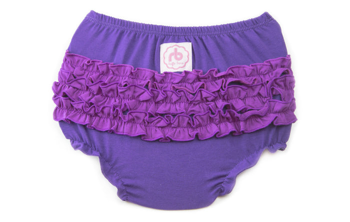 Ruffle Buns Diaper Cover - Plum Dandy