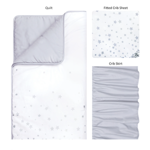 Trend Lab® - Sprinkle Stars - 3 Piece Crib Bedding Set