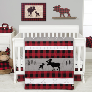 Trend Lab® - Lumberjack Moose - 6 Piece Crib Bedding Set