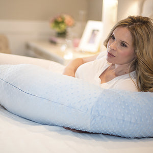 Pregnancy Pillow - Blue Minky