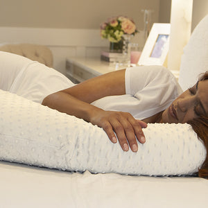 Pregnancy Pillow - White Minky