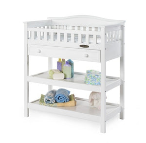 Child Craft Watterson Changing Table with Drawer F08726.07 - Matte White Child Craft Dresser - Nurzery.com - 1