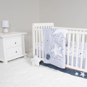 Sammy & Lou® - Starlight- 4 Piece Crib Bedding Set
