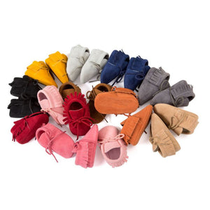Little Wanderers - Suede Velvet Walker Baby Shoes