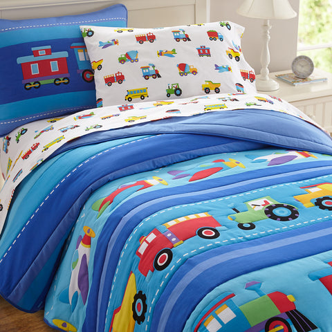 Olive Kids Trains, Planes, Trucks Twin Comforter Set - 11410 -  Olive Kids Bedding - Nurzery.com