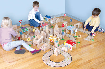 Guidecraft Roadway Set 42 pcs - G6713 - Default Title Guidecraft Toys - Nurzery.com