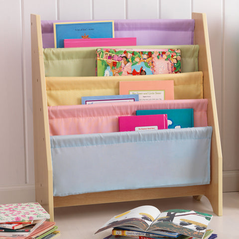 KidKraft Pastel Sling Bookshelf - 14225 -  Kid Kraft Pretend Play - Nurzery.com