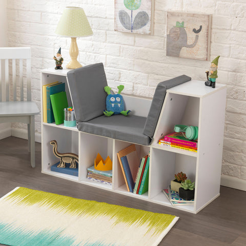 KidKraft Bookcase with Reading Nook - White - 14230 -  Kid Kraft Pretend Play - Nurzery.com