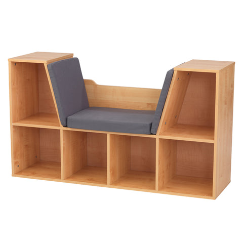 KidKraft Bookcase with Reading Nook - Natural - 14232 -  Kid Kraft Pretend Play - Nurzery.com