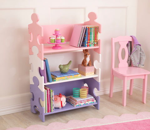 KidKraft Puzzle Bookcase - Pastel - 14415 -  Kid Kraft Pretend Play - Nurzery.com