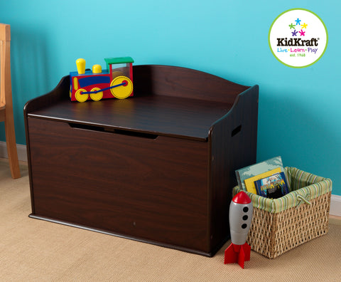 KidKraft Austin Toy Box - Espresso - 14956 -  Kid Kraft Pretend Play - Nurzery.com - 1