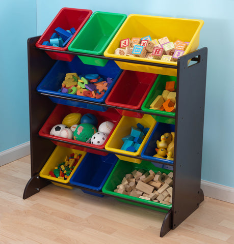 KidKraft Espresso Bin Unit (bins included) - 15451 -  Kid Kraft Pretend Play - Nurzery.com