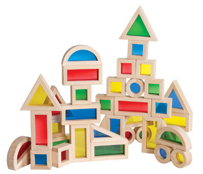 Guidecraft Jr Rainbow Block 40 Piece Set - G3083 - Default Title Guidecraft Toys - Nurzery.com