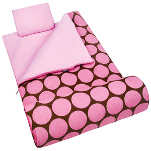 Big Dot Pink Sleeping Bag - 17085 -  Olive Kids Sleeping Bags - Nurzery.com
