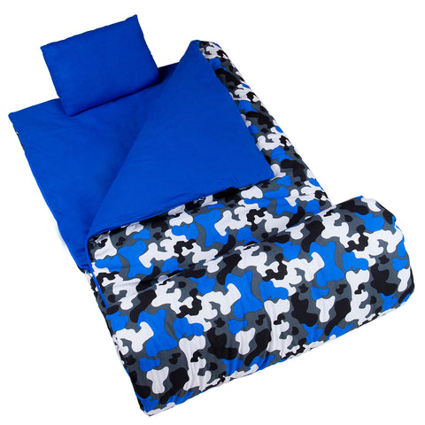 Blue Camo Original Sleeping Bag - 17213 -  Olive Kids Sleeping Bags - Nurzery.com
