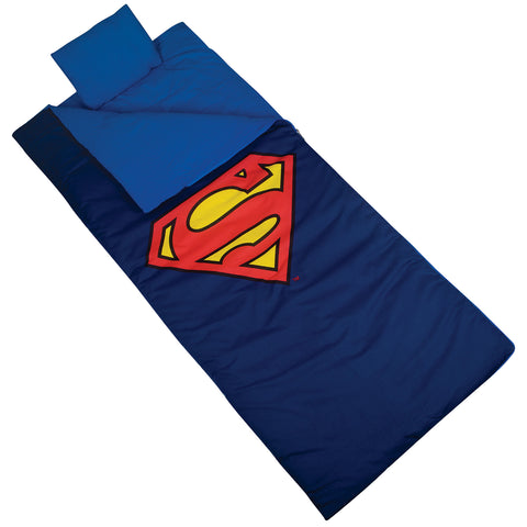 Superman Shield Sleeping Bag - 17430 -  Olive Kids Sleeping Bags - Nurzery.com