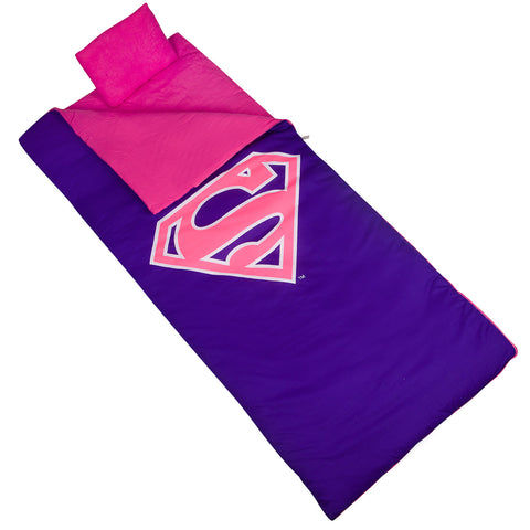 Superman Pink Shield Sleeping Bag - 17431 -  Olive Kids Sleeping Bags - Nurzery.com