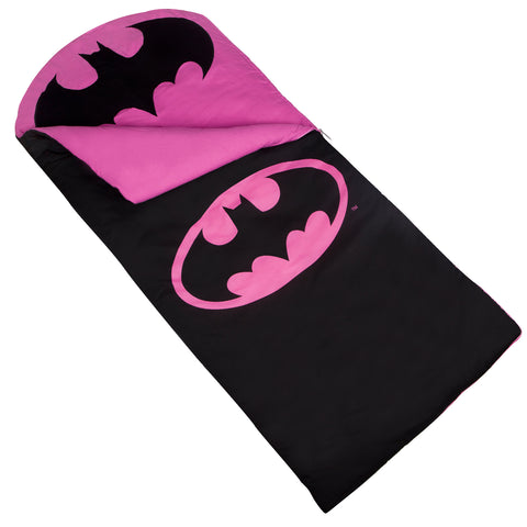 Batman Pink Emblem Sleeping Bag - 17469 -  Olive Kids Sleeping Bags - Nurzery.com