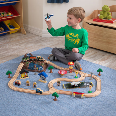 KidKraft Bucket Top Mountain Train Set - 17826 -  Kid Kraft Pretend Play - Nurzery.com