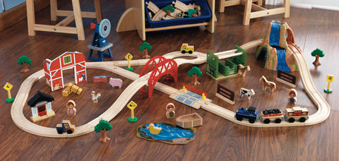 KidKraft Farm Train Set - 17827 -  Kid Kraft Pretend Play - Nurzery.com